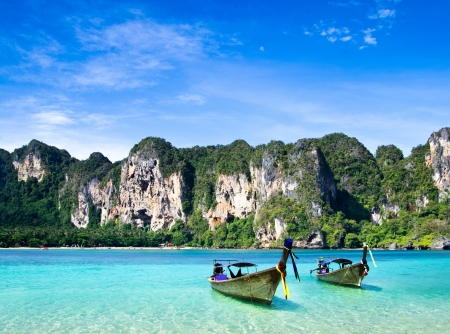 Tropical beach, Andaman Sea, Thailand photo