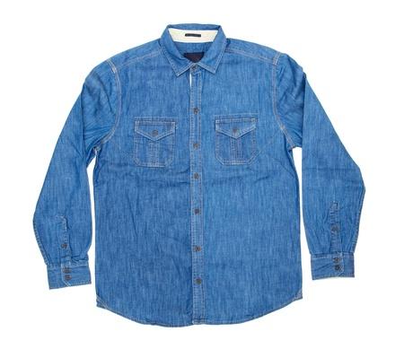 blue man's shirt isolated on white Stock Photo - 17463639