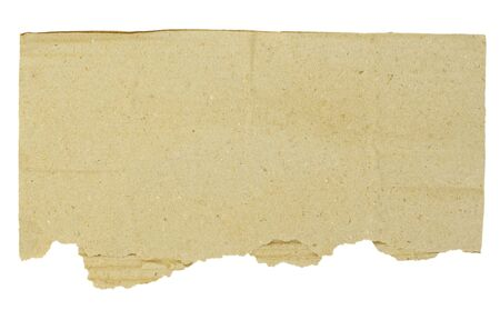 piece of brown cardboard on white Stock Photo - 17654793
