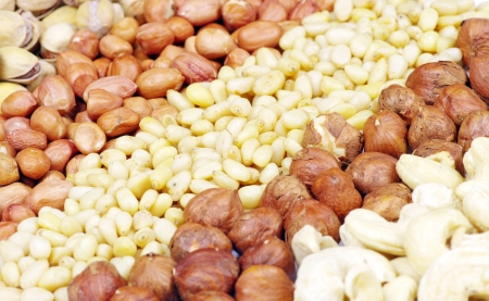 mixed nuts on a background Stock Photo - 17654833
