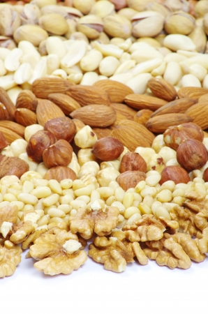 mixed nuts on a background Stock Photo - 17654832