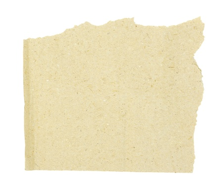piece of brown cardboard on white Stock Photo - 17654944