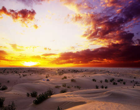 Desert landscape with sanset sky Stock Photo - 17739652