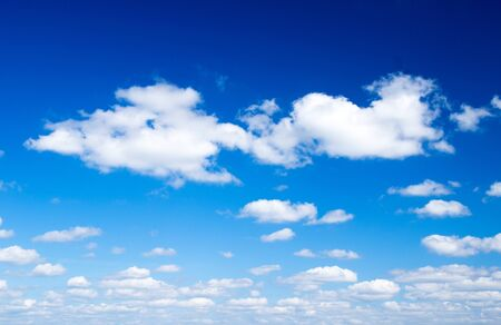 white clouds against blue sky Stock Photo - 17781257