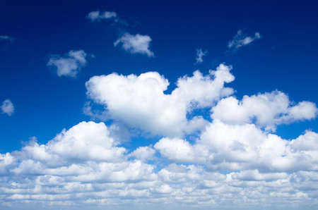 blue sky background with white clouds photo