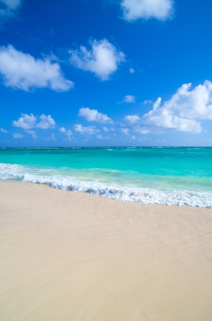 tropical sea under the blue sky Stock Photo