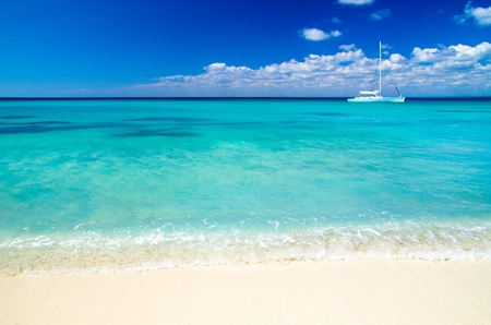 beach and beautiful tropical sea photo