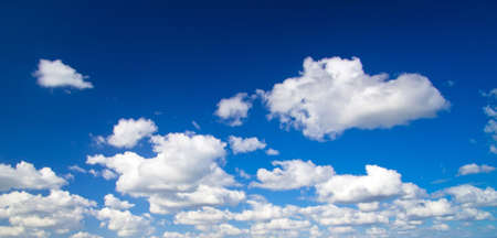 cloud background: blue sky background with tiny clouds Stock Photo