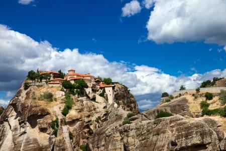 Monastery on top of rock in Meteora, Greece photo