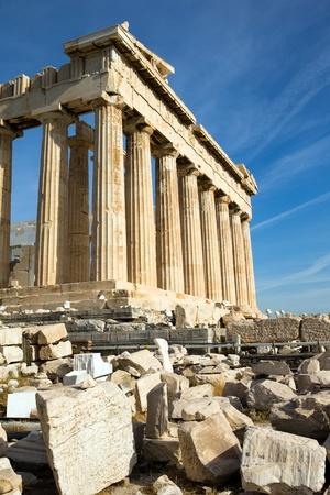 antigua grecia: Parten?n la Acr?is de Atenas, Grecia Foto de archivo