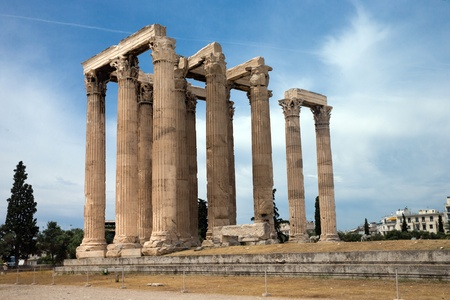 olympian: Temple of Olympian Zeus in Athens, Greece Stock Photo