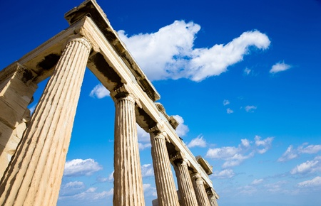 Parthenon on the Acropolis in Athens, Greece photo