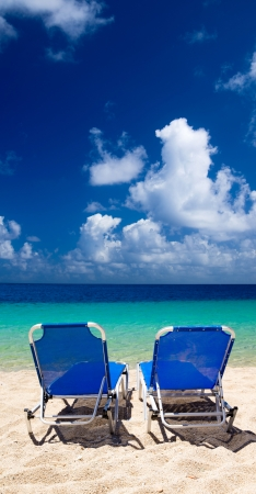 beautiful beach and blue sea photo