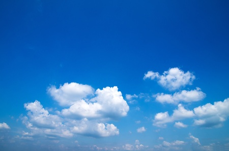 clouds background: blue sky background with tiny clouds Stock Photo