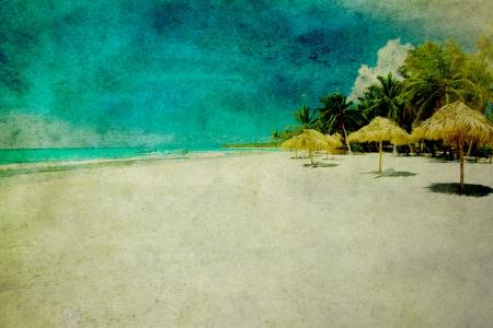 그런 지 이미지 열 대 해변