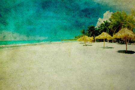 grunge beeld van tropisch strand Stockfoto