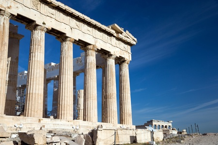 antigua grecia: Parten?n en la Acr?polis de Atenas, Grecia