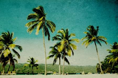 Grunge beeld van tropisch strand Stockfoto - 22071341