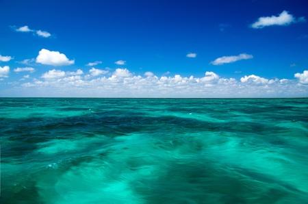 tropical sea under the blue sky photo