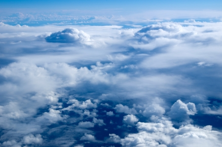 Aerial sky and clouds background Stock Photo - 22117494
