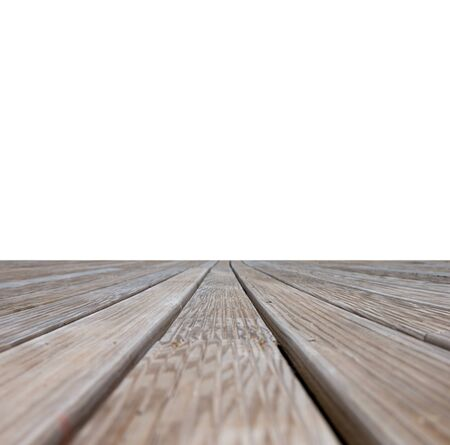 empty wooden floor isolated on white Stock Photo - 22206419