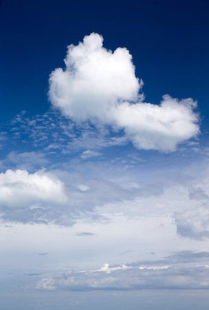 fleecy: blue sky background with a tiny clouds