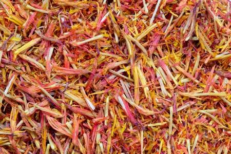 ersatz: Dried saffron as food background Stock Photo
