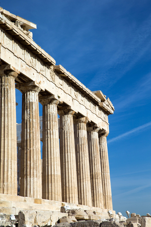 ancient greece: Parthenon on the Acropolis in Athens, Greece Stock Photo