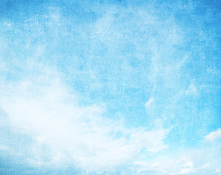 Grunge blue sky with space for text photo
