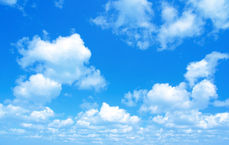 Blue sky with a tiny clouds Stock Photo