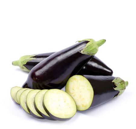 aubergine isolated on white background photo