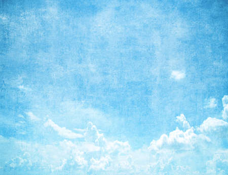 sky clouds: Grunge blue sky background with space for text