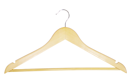 clotheshanger: Clothes-hanger for trousers isolated on white.