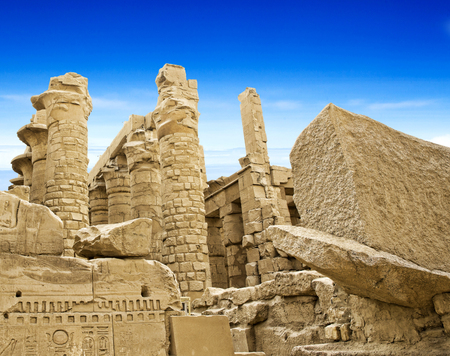 Ancient ruins of Karnak temple in Egypt photo