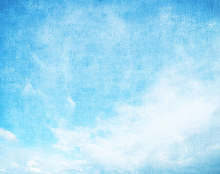 skyscape: Grunge blue sky background with space for text