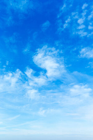 cloud background: Blue sky background with a tiny clouds
