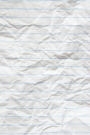 crinkled: piece of white paper great for textures and backgrounds