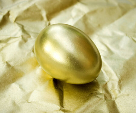 priceless: golden egg is isolated on a golden