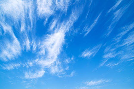 dispel: Blue sky with a tiny clouds Stock Photo