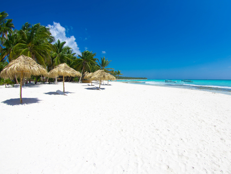peaceful scene: tropical sea under the blue sky