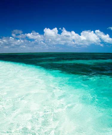 beach and beautiful tropical sea photo