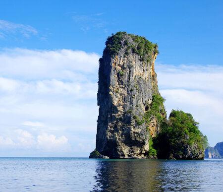 rocks and sea in Krabi Thsiland photo