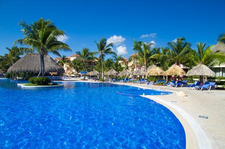 med: Beautiful swimming pool Editorial