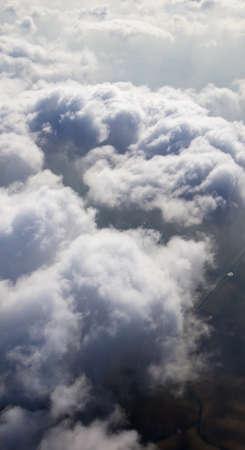 precipitation: clouds in the blue sky