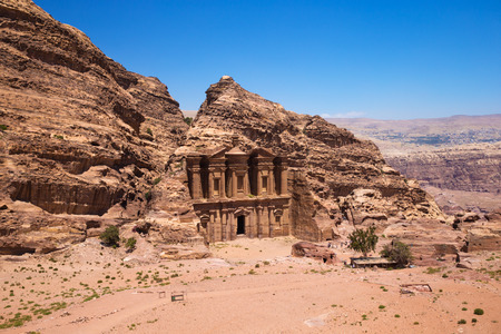 The abandoned city of Petra in Jordan photo