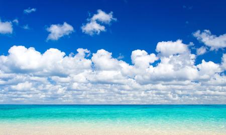 sea scene: beach and beautiful tropical sea