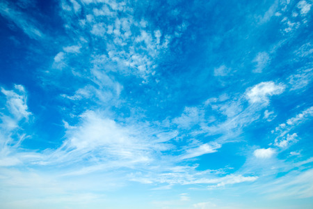 clear skies: clouds in the blue sky