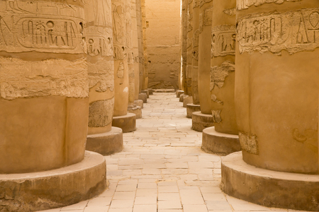 hieroglyphics: Close up of columns covered in hieroglyphics, Karnak, Egypt.