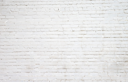 White brick wall for background or texture Stock Photo - 37194775