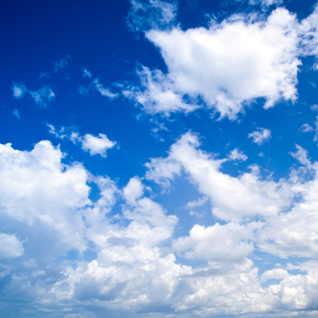 fleecy: Blue sky background with tiny clouds